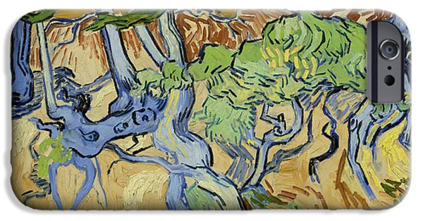 Tree Roots Paintings iPhone Cases - Tree Roots iPhone Case by Vincent van Gogh