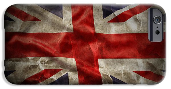 Nation iPhone Cases - Union Jack  iPhone Case by Les Cunliffe