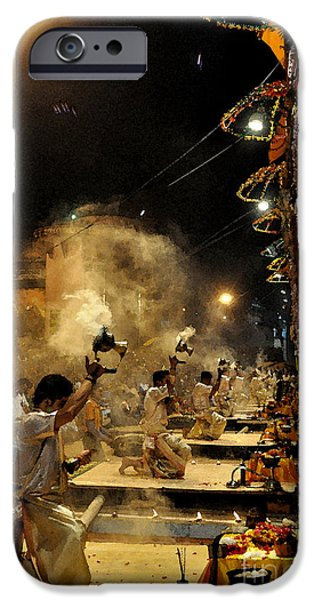 Beauty Mark iPhone Cases - Varanasi The City Of Light iPhone Case by Anil Sharma