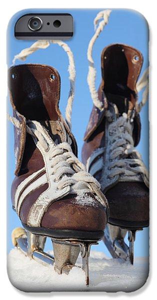 vintage pair of mens  skates  iPhone Case by Mikhail Olykaynen