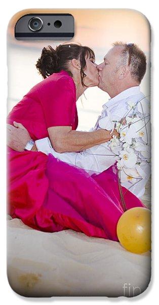 Bridegroom iPhone Cases - Wedding Kiss iPhone Case by Ryan Jorgensen
