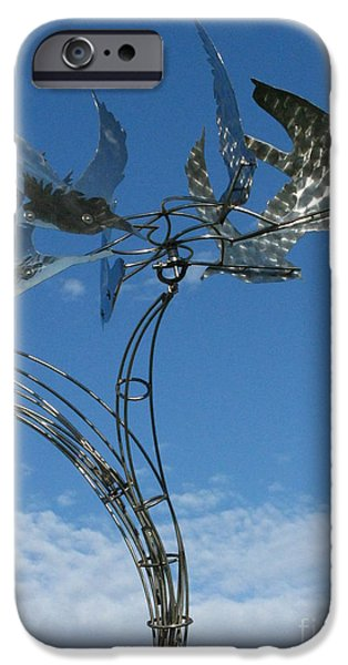 Stainless Steel iPhone Cases - Whirlybird iPhone Case by Peter Piatt
