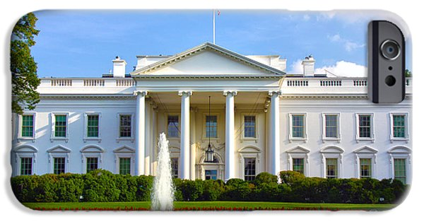 White House iPhone Cases - White House iPhone Case by Mitch Cat
