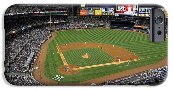 Upper Deck iPhone Cases - Yankee Stadium 3 iPhone Case by Allen Beatty