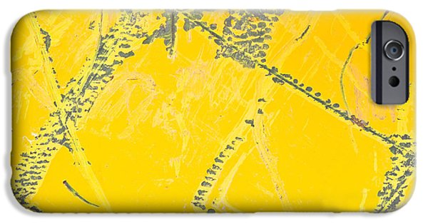 Sheets iPhone Cases - Yellow metal iPhone Case by Tom Gowanlock