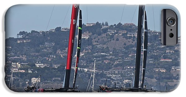 Oracle iPhone Cases - Americas Cup 34 iPhone Case by Steven Lapkin