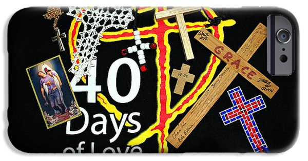 Atonement iPhone Cases - 40 Days of Love iPhone Case by Reid Callaway