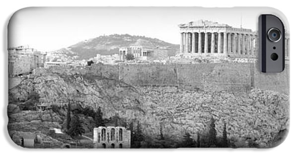 Acropolis iPhone Cases - High Angle View Of Buildings In A City iPhone Case by Panoramic Images