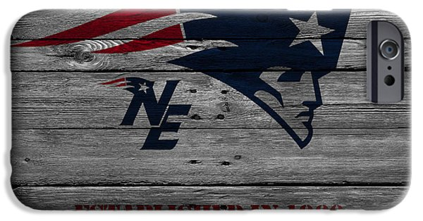 Snow iPhone Cases - New England Patriots iPhone Case by Joe Hamilton