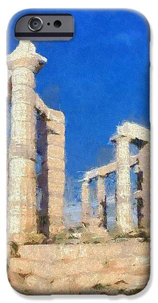 Poseidon temple iPhone Case by George Atsametakis