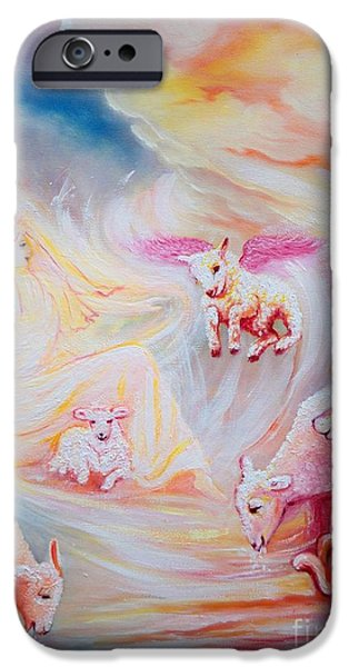 Art By God iPhone Cases - 401 Chloe Gets her Wings iPhone Case by Sigrid Tune