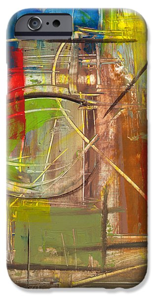 Red Abstract iPhone Cases - RCNpaintings.com iPhone Case by Chris N Rohrbach