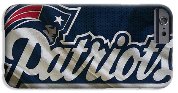 Patriots Photographs iPhone Cases - New England Patriots iPhone Case by Joe Hamilton