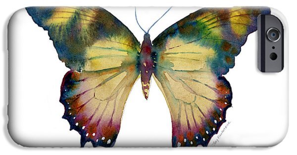 Kite iPhone Cases - 41 Yellow Kite Butterfly iPhone Case by Amy Kirkpatrick