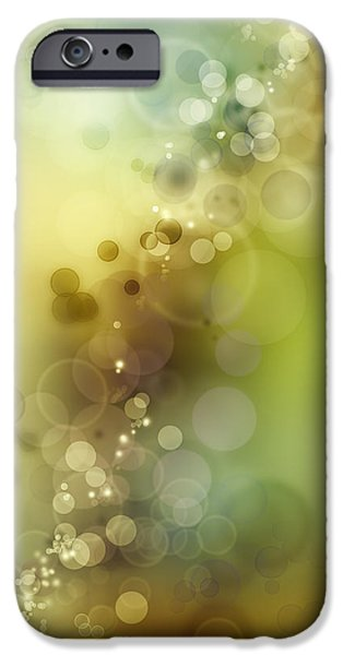 Bright Photographs iPhone Cases - Abstract background iPhone Case by Les Cunliffe