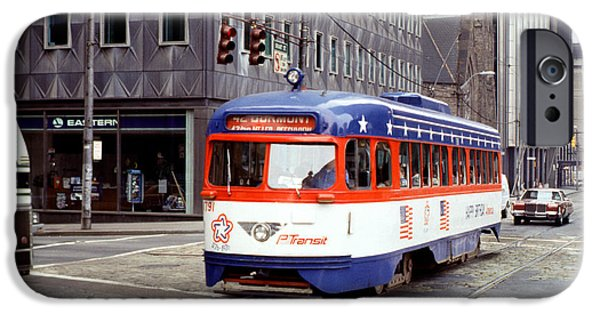 Pcc iPhone Cases - 42 Dumont PCC BiCentennial Trolley 1791 Pittsburgh iPhone Case by Wernher Krutein