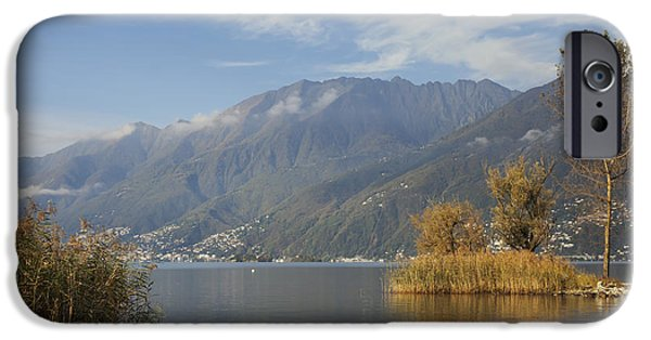 Sailing iPhone Cases - Lake Maggiore iPhone Case by Joana Kruse