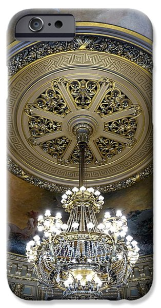 Ballet Of Colors iPhone Cases - The Beauty Within The Palais Garnier in Paris France iPhone Case by Richard Rosenshein