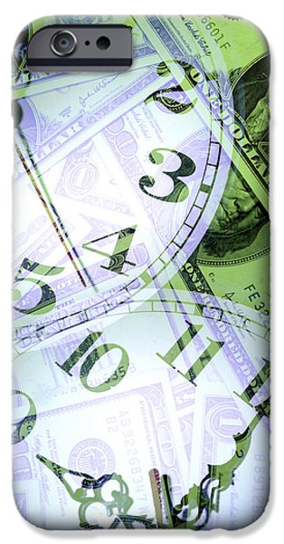 Savings iPhone Cases - Time is money  iPhone Case by Les Cunliffe