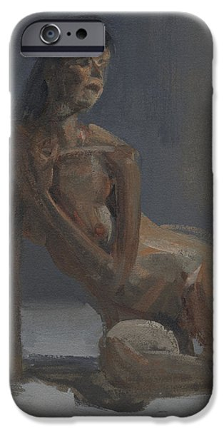 Figures Paintings iPhone Cases - RCNpaintings.com iPhone Case by Chris N Rohrbach