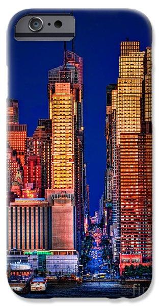 42nd Street iPhone Cases - 42nd Street iPhone Case by Susan Candelario