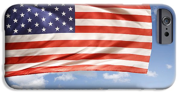 Independence Day iPhone Cases - American flag iPhone Case by Les Cunliffe