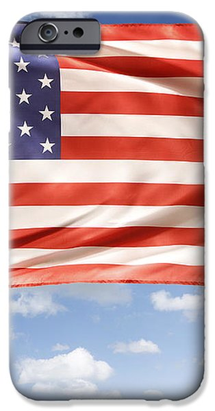 American flag iPhone Case by Les Cunliffe