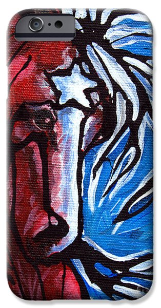 Independence Day Paintings iPhone Cases - #43 July 4th iPhone Case by Jonelle T McCoy