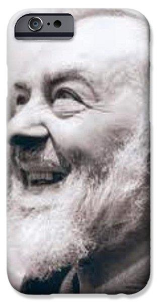 Etc... iPhone Cases - Padre Pio iPhone Case by Matteo TOTARO