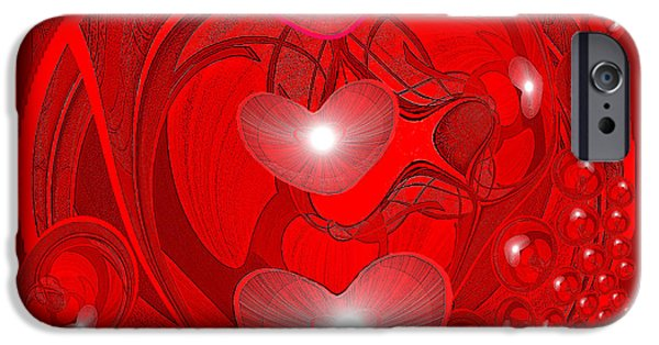Decorativ iPhone Cases - 438 - Love Inside iPhone Case by Irmgard Schoendorf Welch