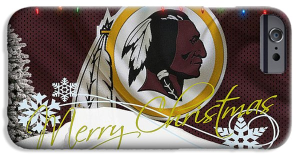 Santa iPhone Cases - Washington Redskins iPhone Case by Joe Hamilton