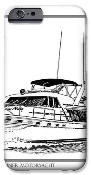 45 foot Bayliner Motoryacht iPhone Case by Jack Pumphrey
