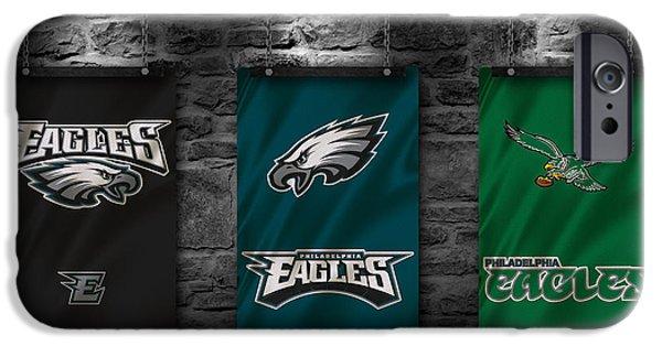 Sports Bar iPhone Cases - Philadelphia Eagles iPhone Case by Joe Hamilton