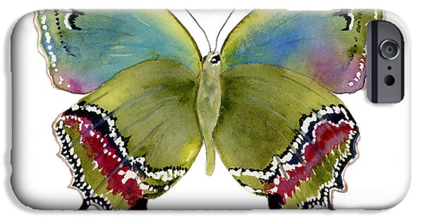 Moth iPhone Cases - 46 Evenus Teresina Butterfly iPhone Case by Amy Kirkpatrick