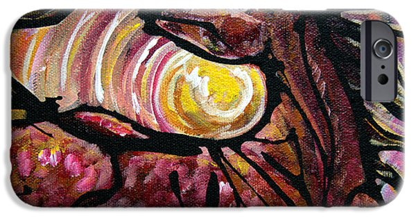 Sun Rays Paintings iPhone Cases - #46 July 7th iPhone Case by Jonelle T McCoy