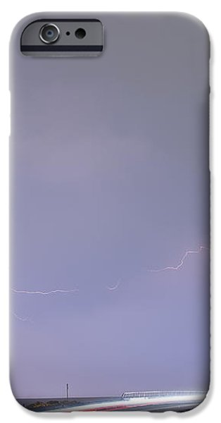 47 Street Lightning Storm Light Trails View iPhone Case by James BO  Insogna