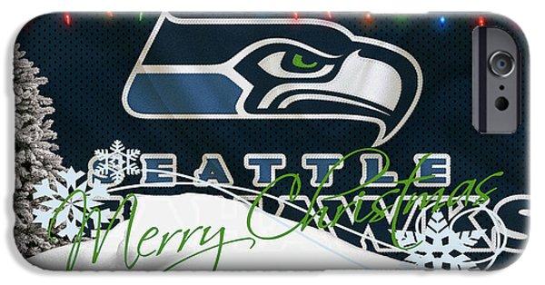 Sports iPhone Cases - Seattle Seahawks iPhone Case by Joe Hamilton