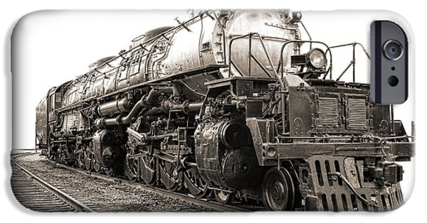Steam Locomotive iPhone Cases - 4884 Big Boy iPhone Case by Olivier Le Queinec