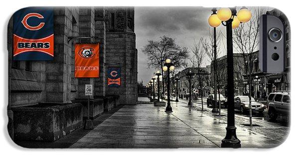Main Street iPhone Cases - Chicago Bears iPhone Case by Joe Hamilton