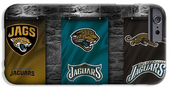 Jacksonville iPhone Cases - Jacksonville Jaguars iPhone Case by Joe Hamilton
