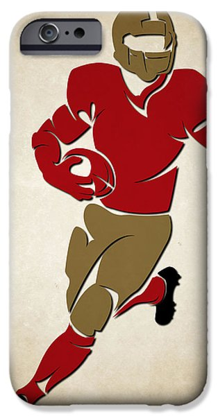 Sports Photographs iPhone Cases - 49ers Shadow Player iPhone Case by Joe Hamilton
