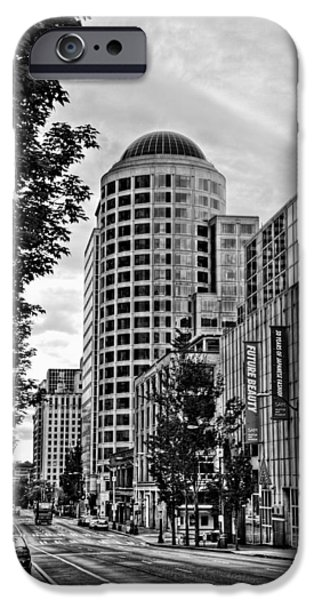 Safeco iPhone Cases - 4th Avenue - Downtown Seattle Washington iPhone Case by David Patterson