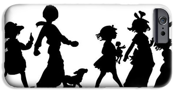 Black Dog iPhone Cases - 4th of July Childrens Parade Panorama iPhone Case by Rose Santuci-Sofranko