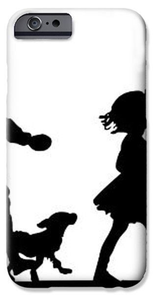 4th of July Childrens Parade Panorama iPhone Case by Rose Santuci-Sofranko