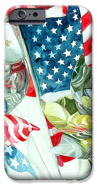 4th of July iPhone Case by Elizabeth  McRorie