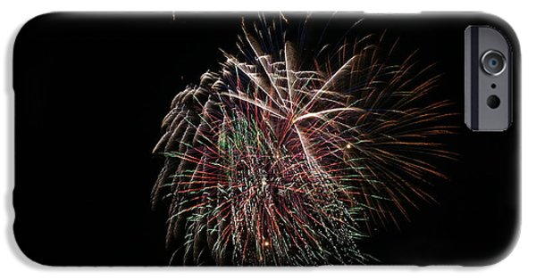 Independance Day iPhone Cases - 4th of July Fireworks iPhone Case by Alan Hutchins
