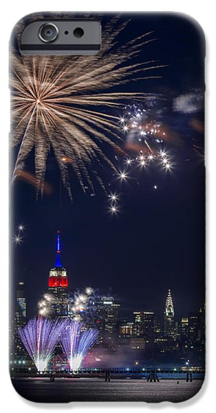 Pyrotechnics iPhone Cases - 4th of July fireworks iPhone Case by Eduard Moldoveanu
