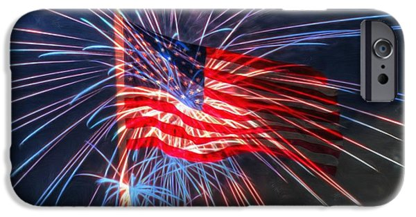 4th July Digital Art iPhone Cases - 4th Of July iPhone Case by Heidi Smith