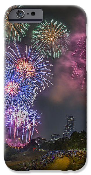 4th of July in Houston Texas iPhone Case by Micah Goff