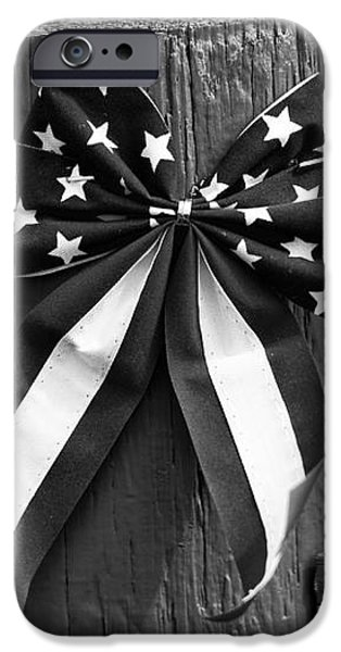 4th of July mono iPhone Case by John Rizzuto